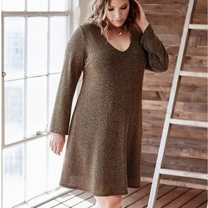 Dresses & Skirts - NWT Karen Kane Plus Gold Knit Taylor Swing Dress